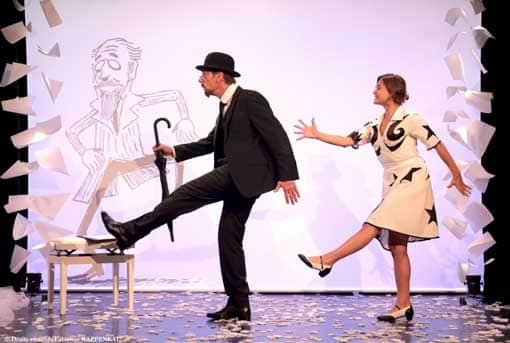 un spectacle joliment mis en scene au theatre de la contrescarpe