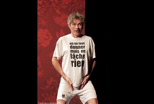 """One man show humoristique """"En mode souci"""" de Philippe Fertray au Théâtre de la Contrescarpe : le sketch """"la gymnastique"""""""